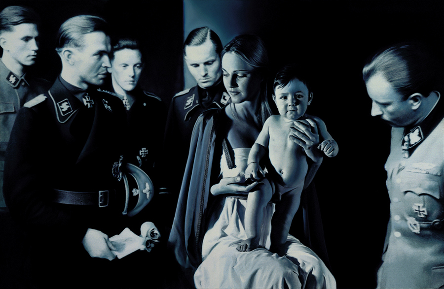 "Gottfried Helnwein, ""Epihany I (Adoration of the Magi)"""